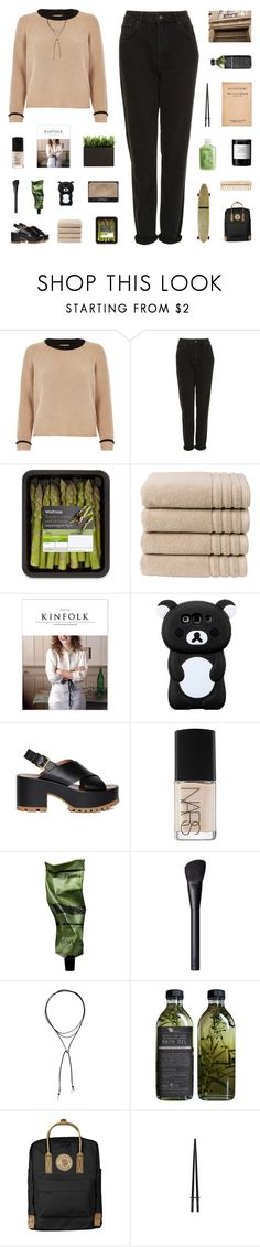 """""""I CAN BARELY BREATHE WHEN YOU'RE THERE LOVING ME"""" by ughtara ❤ liked on Polyvore featuring River Island, Topshop, NARS Cosmetics, Christy, Marni, Aesop, Vanessa Mooney, Fjällräven, Byredo and The Body Shop"""