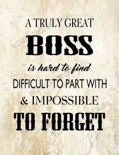 For our Boss appreciation Boss thank you boss retirement print