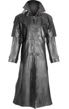 ♥♥♥♥♥♥♥  Mens 100% Pure Leather Goth / Steampunk Gothic Van Helsing Matrix Trench Coat  #TrenchCoatsMacs