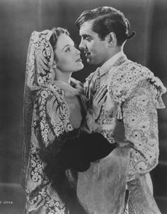 """Linda Darnell & Tyrone Power from the movie """"Blood and Sand"""" also starring Rita Hayworth (1941)"""
