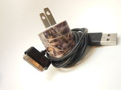 Camo iPhone Charger Decorated with Personality by PersonalPower, $17.00