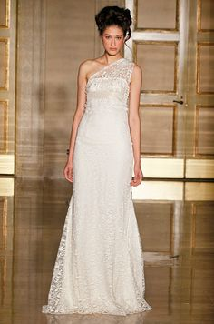 Wedding dress from Douglas Hannant, Fall 2013. Click to see the back!