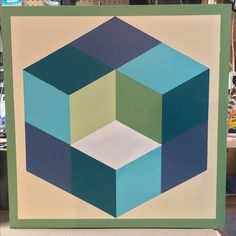 """""""Tumbling Block"""" created at Foothills Gallery on Trout Lake in Hermon, NY"""