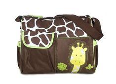 Mochilas de Bebé Bolsa De Pañales Cambiar Pañal Bolso Multifunctional para madre -Patrón Giraffe