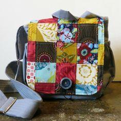 Patchwork Messenger Bag.