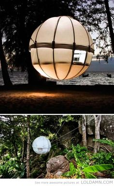 Cool camping idea this summer: suspended treeehouse