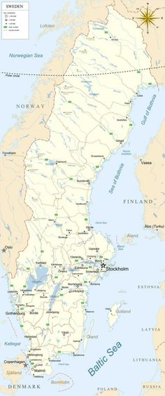 Good Map of Sweden