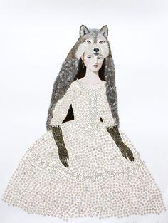 Winter Wolf Girl / Anne Siems