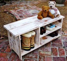 Entryway Bench With Shoe Storage Plans — Indoor Outdoor Benches ...