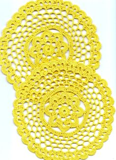 Two Crochet doilies lace doily table decoration by DoilyWorld