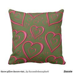 throw pillow decore vintage valentines