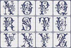 Free Easy Cross, Pattern Maker, PCStitch Charts + Free Historic Old Pattern Books: Sajou No 364 Cross Stitch Borders, Cross Stitch Alphabet, Cross Stitch Charts, Cross Stitch Designs, Cross Stitching, Cross Stitch Patterns, Easy Cross, Simple Cross Stitch, Blackwork