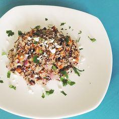 Quinoa + Roasted Chickpea Salad  via www.emergingadulteats.com