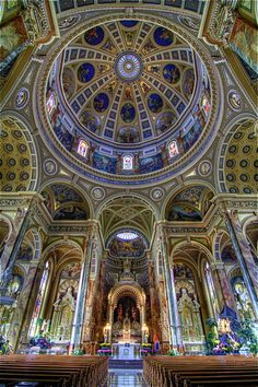 Interior view of The Basilica of St. Josaphat Milwaukee WI