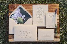 Kraft Wedding Invitation by oakandorchid on Etsy