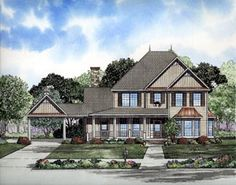 House Plan 61300   Victorian Plan with 3063 Sq. Ft., 4 Bedrooms, 4 Bathrooms, 2 Car Garage