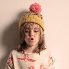 Bobo Choses Knitted Mohair Hat - Mustard | MonkeyMcCoy
