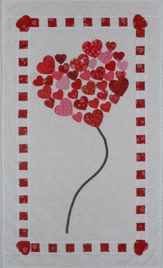 valentine quilt patterns | ... Valentine's Day quilt. I found this pattern in the January/February