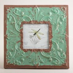 One of my favorite discoveries at WorldMarket.com: Turquoise Square Tile Chloe Frame