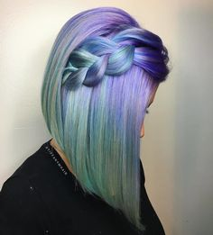 50 magical ways to style mermaid hair for every hair type .- 50 magische Weisen, Meerjungfrau-Haar für jede Haartyp zu stylen – Neue Damen Frisuren 50 magical ways to style mermaid hair for every hair type # hair type - Pulp Riot Hair Color, Green Hair, Mint Hair, White Hair, Cool Hair Color, Ombre Hair, Pretty Hairstyles, Braid Hairstyles, Latest Hairstyles