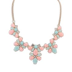 Match-Right 2015 Resin Women Statement Necklace Resin Flower Necklaces Pendants Fashion Collar Choker Necklace Jewelry Trends