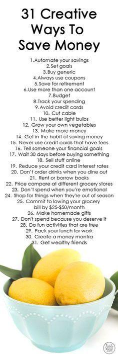 31 creative ways to save money