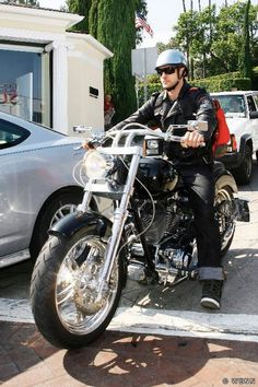 Justin Timberlake with his customized Harley-Davidson, he's 'bringin' sexy back!