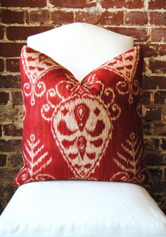 Istanbul Ikat - Duralee - Pillow Cover - 22 in square - Designer Pillow - Decorative Pillow - Throw Pillow. $53.00, via Etsy.