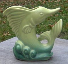 Beauceware Marlin Vase - Céramique de Beauce (1949) Vase, Garden Sculpture, Pottery, Outdoor Decor, Canada, Collection, Google, Home Decor, Ceramics