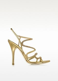 Loriblu Golden Jeweled Sandal