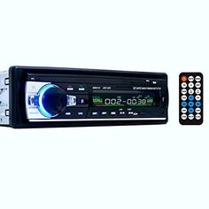 Masione Bluetooth Car Audio Stereo 1 DIN In Dash 12V Fm Receiver with USB Mp3 Radio Player & USB SD Input AUX Receiver + Remote Control. Digital in-dash car receiver. Support Bluetooth, as long as your cellphone can support bluetooth, you can answer your call & play music through this car audio stereo. Wireless remote control; Multi-color LCD display. Four speaker wires and mounting accessories. Automatic memory function for 18 broadcasting stations. Monophony/stereo control/ mute...