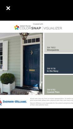 Exterior Paint Schemes, Exterior Paint Colors For House, Paint Colors For Home, Exterior Colors, Exterior Design, Outside House Colors, Outside Paint, House Paint Color Combination, Farmhouse Paint Colors