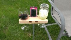 The Wine Dock - perfect for a gift.  Smartphone Dock/Speaker and Wine Glass holder. works with iphone 5c and iphone 5s on Etsy, $34.99