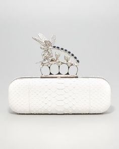 Dragonfly Python Knuckle-Duster Clutch Bag by Alexander McQueen at Neiman Marcus.
