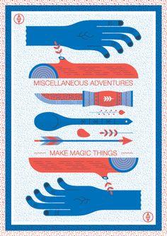 Make Magic Things Print by Andrew Groves, via Behance