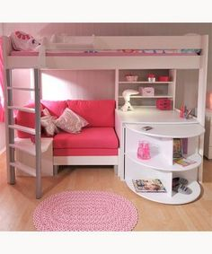 Loft Bed With Couch And Desk Beds Stompa Casa 4