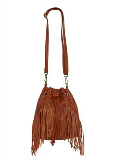 Fringe Bucket Bag in Brown | Necessary Clothing