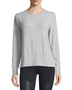 Glimpse Long-Sleeve Top, Women's, Size: XS, Charcoal Heather - Alo Yoga