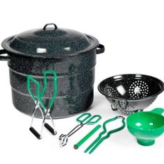Get started canning right away with the Granite Ware Quart Steel Water Bath Canner 9 Piece Kit , complete with all the great accessories. Canning Water, Canning Pears, Home Canning, Blueberry Freezer Jam, Water Bath Cooking, Freezer Jam Recipes, Quart Jar, Strawberry Blueberry