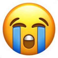 A face with closed eyes, round open mouth, teeth showing, and tears streaming down. This emoji is very noticeably crying and is doing so loud enough for everyone to hear and take notice. Nothing to hide here, this emoji is beyond sad. Ios Emoji, Emoji Set, Emoji Love, Emoji Keyboard, Emoji Wallpaper Iphone, Cute Emoji Wallpaper, Mood Wallpaper, Crying Emoji, Crying Face