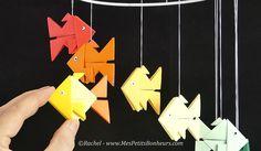Bricolage facile : Pliage et collage d'un poisson en Tangrami