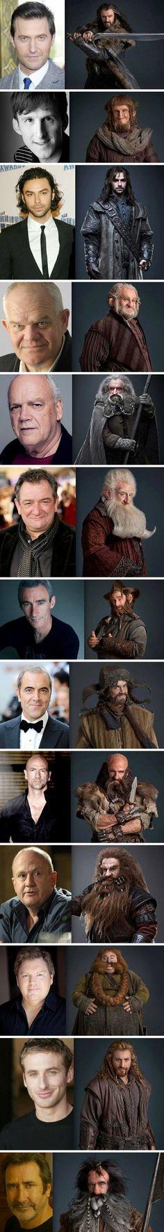 The Hobbit dwarves – pre and post make-up