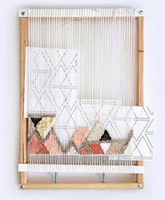 Weaving Loom Kit Beginner Weaving Kit Looms And Tools Tapestry Loom With Stand Weave Frame Loom Rug Telar DIY Craft Kit Custom Weaving Loom Diy, Weaving Art, Tapestry Weaving, Hand Weaving, Loom Weaving Projects, Weaving Textiles, Weaving Patterns, Stitch Patterns, Loom Knitting Patterns