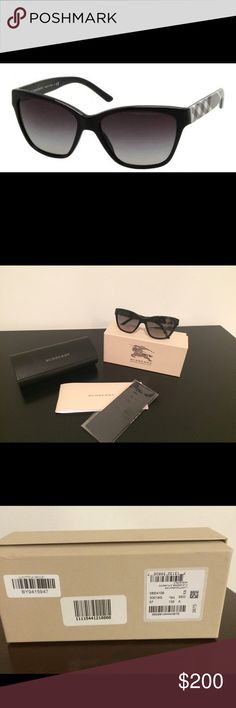 BURBERRY SUNGLASSES Burberry wayfarer. Black/ Grey tweed . Grey shaded. Full rim. 57mm. Original box, case and lens cloth. Gently worn.❗️NO TRADES❗️NO LIW BALL OFFERS❗️ Burberry Accessories Glasses