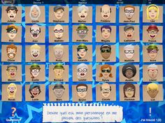 French Apps for Kids: Qui est-ce? A Guess Who game for learning adjectives to describe people French Adjectives, French Verbs, French Grammar, French Tenses, Study French, Core French, French Teacher, Teaching French, How To Speak French