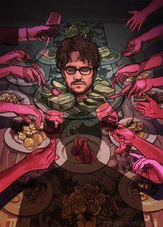 Fuck Yeah Illustrative Art! • zoroko: One of two Hannibal art pieces that was...