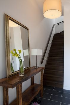 Khanna Schultz, Cobble Hill Townhouse, Architect Is In | Remodelista - Notice lights on stairwell.