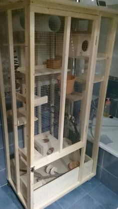 My custom Chinchilla cage.                                                                                                                                                     More