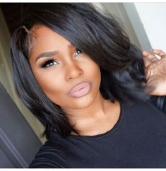 80 Bob Hairstyles To Give You All The Short Hair Inspiration - Hairstyles Trends My Hairstyle, Pretty Hairstyles, Straight Hairstyles, Black Hairstyles, Short Haircuts, Hair Updo, Hairstyle Ideas, Layered Bob Hairstyles For Black Women, Weave Bob Hairstyles