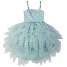 Ooh! La, La! Couture Blue Ice WOW Swarovski Devin High Low Dress